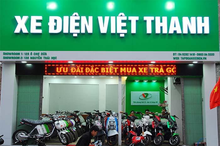Sửa chữa biển quảng cáo cửa hàng xe điện tại Hà Nội