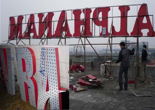 Sửa chữa biển quảng cáo tòa nhà tại Hà Nội